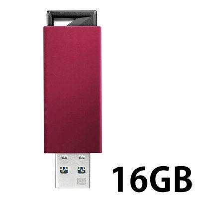 アイ・オー・データ機器 USB3.0/2.0対応 ノック式USBメモリー 16GB レッド U3-PSH16G/R 1個  (直送品)
