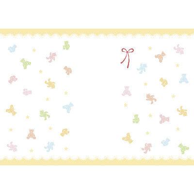 ササガワ 新のし紙 B4判 パステルベア 出産祝用 4-2054 100枚(100枚袋入) (取寄品)