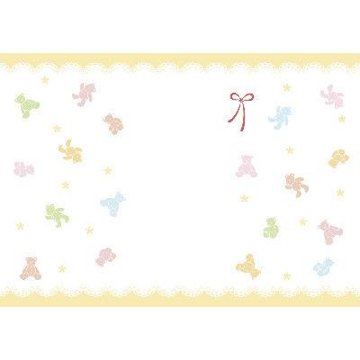 ササガワ 新のし紙 A4判 パステルベア 出産祝用 4-2056 100枚(100枚袋入) (取寄品)
