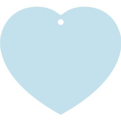 ササガワ ハート型短冊(穴アキ)・ブルー 46-6261 50枚(10枚袋入×5冊袋入) (取寄品)