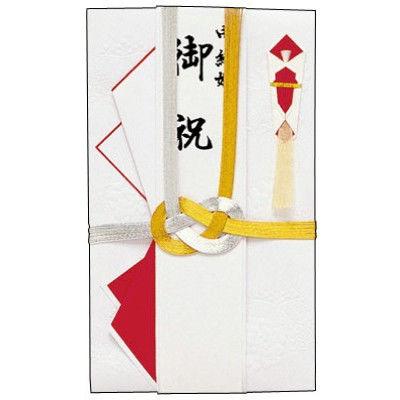ササガワ タカ印 金封 ひだ折 金銀十本 27-605 5枚(1枚袋入×5枚袋入) (取寄品)