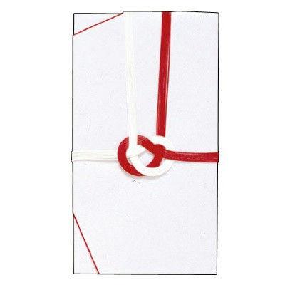 ササガワ タカ印 金封 大阪折 赤白七本 のしなし 27-703 30枚(1枚袋入×30枚箱入) (取寄品)