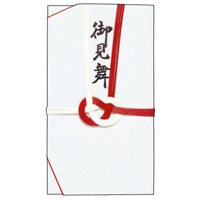 ササガワ タカ印 金封 大阪折 赤白七本 御見舞 27-722 20枚(3枚袋入×20冊箱入) (取寄品)
