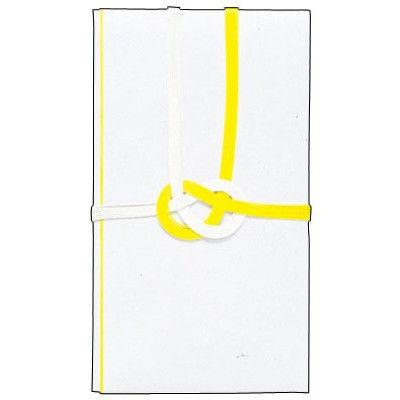 ササガワ 金封 東京折 黄白七本 無字 27-774 30枚(1枚袋入×30枚箱入) (取寄品)
