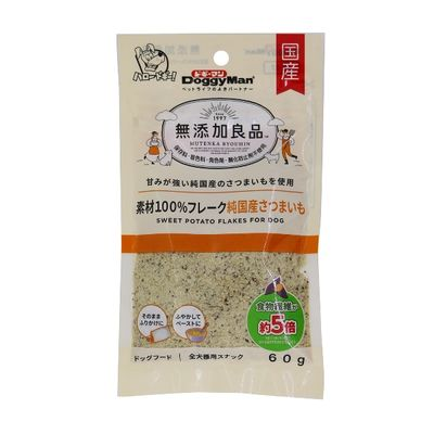 ドギーマンハヤシ 無添加良品 素材100%フレーク 純国産さつまいも 60g 185575