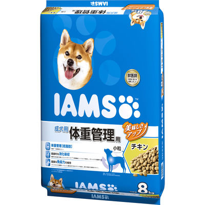 IAMS 体重管理用 チキン 8kg ドッグフード 成犬用 178704
