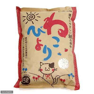 ボンビアルコン 紙の猫砂 ねこびより 6L 紙 固まる 流せる 燃やせる 87016