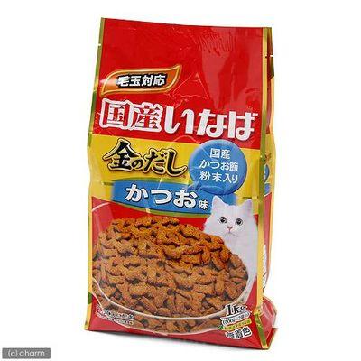 いなばペットフード 金のだし 猫用 ドライ かつおだし味 1kg(500g×2袋) 76739