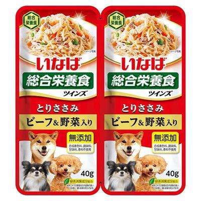 ツインズ ツインズ 低脂肪 とりささみ ビーフ&野菜入 80g 81855 1セット(2個入)