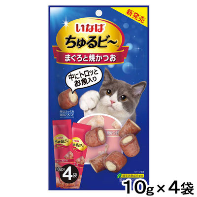 ちゅるビ~ 猫用 まぐろと焼かつお (10g×4袋)×2袋 いなばペットフード