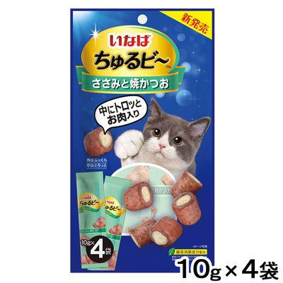 ちゅるビ~ 猫用 ささみと焼かつお (10g×4袋)×2袋 いなばペットフード