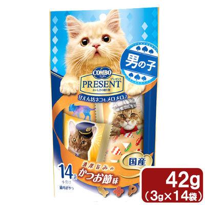 日本ペットフード コンボ プレゼント 男の子 濃厚旨みのかつお節味 42g 290142 1セット(3個入)