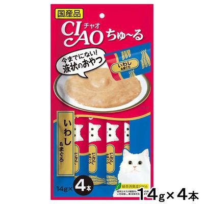 いなばペットフード CIAO(チャオ) 猫用 ちゅ~る いわし&まぐろ 14g×4本 249054 1セット(6個入)