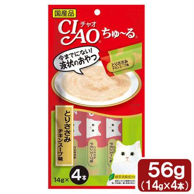 いなばペットフード 猫用 ちゅ~る とりささみ チキンスープ味 14g×4本 396086 1セット(6個入)