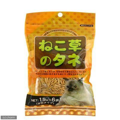ねこ草の種 分包タイプ 15g×6袋 猫草 76215 1セット(4個入)