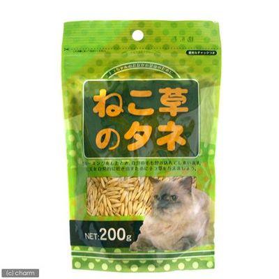 ねこ草の種 スタンドパック 200g 猫草 76214 1セット(4個入)