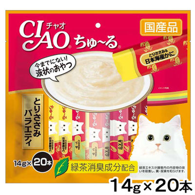 いなばペットフード CIAO(チャオ) ちゅ~る とりささみバラエティ 14g×20本 394047 1セット(2個入)