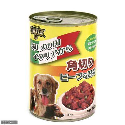 くいしんぼ缶 角切りビーフ&野菜 400g ドッグフード 78690 1セット(2個入)