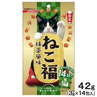 日清ペットフード ねこ福 抹茶風味 3g×14包 国産 246888 1セット(12個入)
