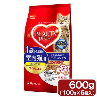 日本ペットフード ビューティープロ キャット 室内猫 成猫用 600g 68289 1セット(12個入)
