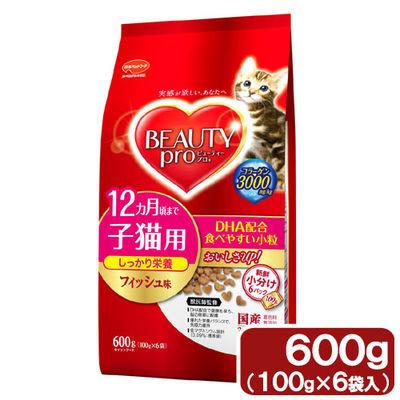 日本ペットフード ビューティープロ キャット 室内猫 子猫用 600g 68288 1セット(12個入)