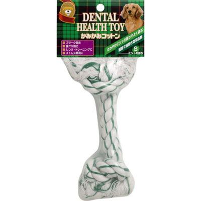 スーパーキャット かみかみコットン ミントの香り S 犬用おもちゃ デンタルケア 152979 1セット(3個入)