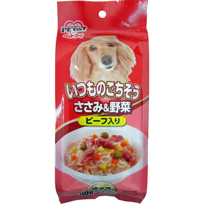 ペットアイ 犬用 いつものごちそう ささみ&野菜 ビーフ入り 80g×3パック 202295 1セット(3個入)