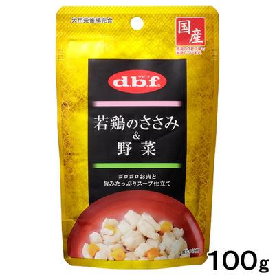 デビフペット 若鶏のささみ&野菜 100g 290542 1セット(3個入)