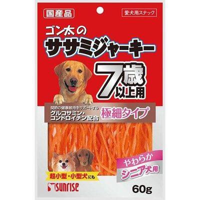 マルカン ゴン太のササミジャーキー 7歳以上用 60g 犬 おやつ 高齢犬用 89764 1セット(3個入)