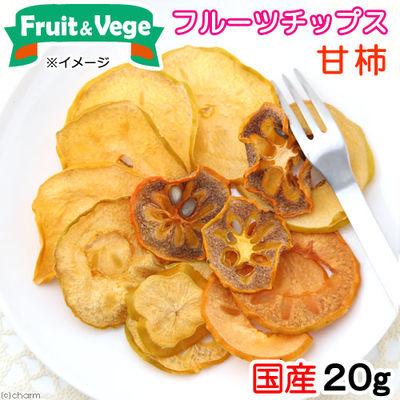 国産 甘柿 20g 犬用おやつ フルーツ&ベジ フルーツチップス 174758 1セット(3個入)