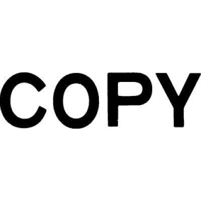 シヤチハタ マルチスタンパー 印面カートリッジ 黒 横 COPY MXB-71 (取寄品)
