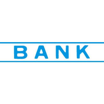 シヤチハタ マルチスタンパー 印面カートリッジ 青 横 BANK MXB-79 (取寄品)