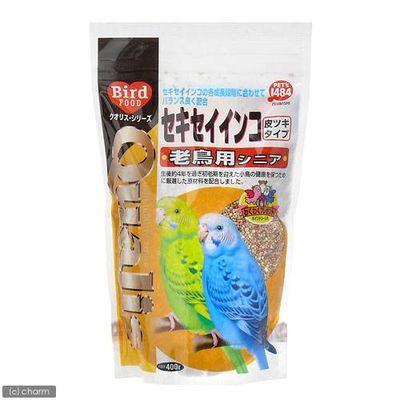 セキセイインコ老鳥用シニア 400g フード 餌 えさ 種 穀類 171416 1セット(3個入)