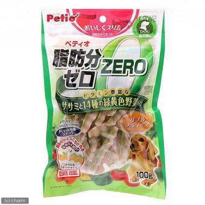 脂肪分ゼロ ダブルスティック ササミと14種の緑黄色野菜入100g 164266 1セット(3個入)