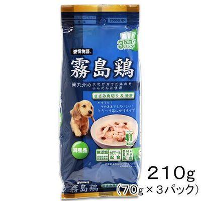 イースター 愛情物語 霧島鶏 ささみ角切り&砂肝 70g×3パック 177677 1セット(3個入)