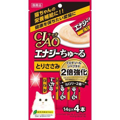 いなばペットフード 猫用 エナジーちゅ~る とりささみ 14g×4本 国産 201457 1セット(3個入)