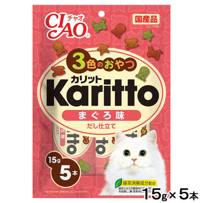 いなばペットフード CIAO(チャオ) Karitto まぐろ味 15g×5本 国産 246665 1セット(3個入)