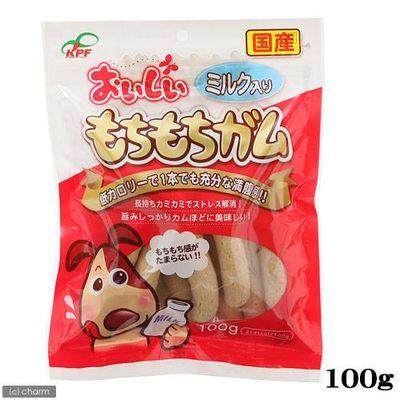 おいしいもちもちガムミルク入り100g 犬 おやつ デンタルケア 154421 1セット(3個入)