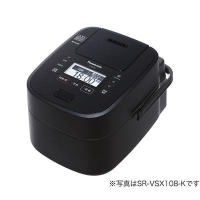 パナソニック スチーム&可変圧力IHジャー炊飯器 1.8L (ブラック) SR-VSX188-K 1台  (直送品)