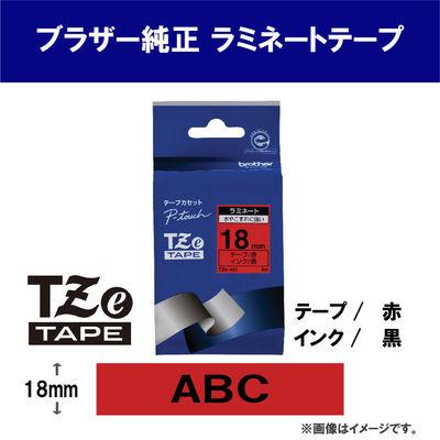 ピータッチ 18ミリ 赤テープ 黒文字