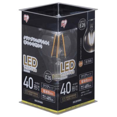 アイリスオーヤマ LEDフィラメント電球 E26 40形相当 電球色 非調光クリア LDA4L-G-FC 1個  (直送品)