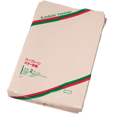 寿堂 封筒 ハーフトーン 角2 100枚 ピンク 0567 1パック (直送品)