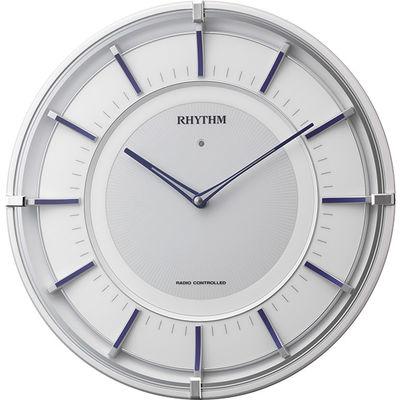 サイレントソーラーM844 電波掛時計紺