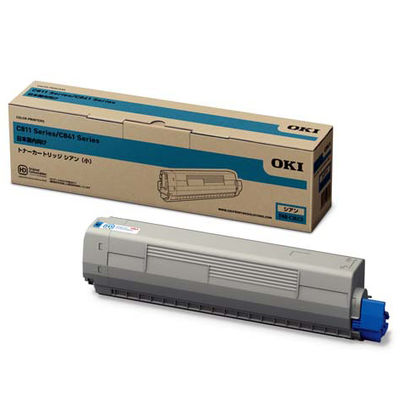 沖データ TNR-C3LC3 トナーカートリッジ(小) シアン (C841dn/ C811dn/C811dnーT) 1個 (直送品)