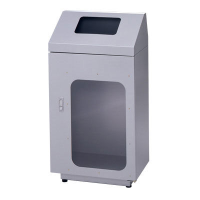 ぶんぶく リサイクルトラッシュ窓付一般ゴミ・シルバー OSE-39 (直送品)