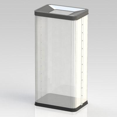 ぶんぶく 透明角型オープン屑入 OSM-P-1 (直送品)