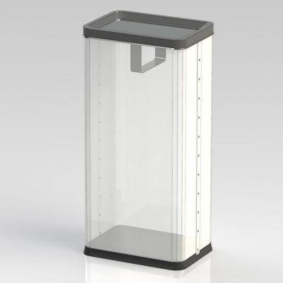 ぶんぶく 透明角型ロータリー屑入 RSM-P-1 (直送品)