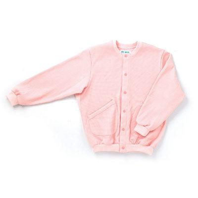 日本エンゼル スクエアニット室内着(衿なし前開き) ピンク S 5100 (直送品)