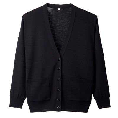 D-PHASE(ディーフェイズ) 抗ピル長袖カーディガン(ポケット付き) 女性用 ブラック M D1011 (直送品)