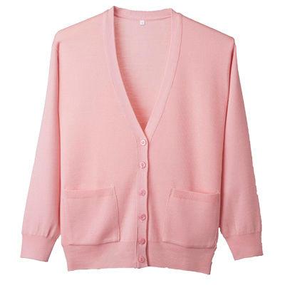 D-PHASE(ディーフェイズ) 抗ピル長袖カーディガン(ポケット付き) 女性用 ピンク LL D1011 (直送品)